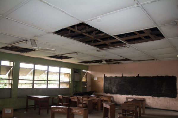 Before Renovation Ireti Primary School Classroom 2