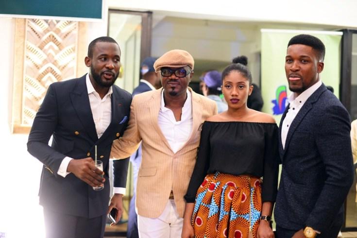 Joseph Benjamin, DJ Jimmy Jatt _ his daughter, Oyinda Wole Ojo