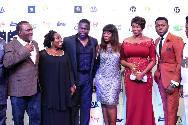 L-R Greg Odutayo, Debbie Odutayo, Mr _ Mrs Fahm, Carol King, Deyemi Okanlawon