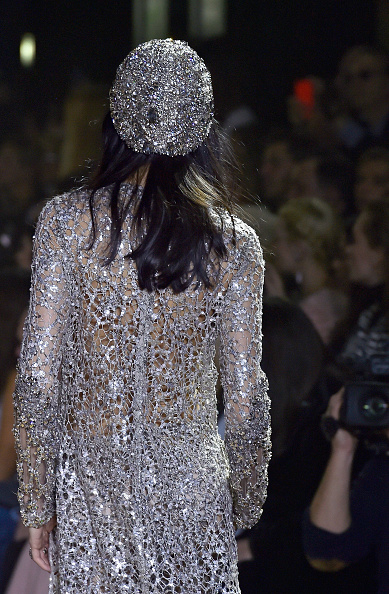A model walks the runway during the Elie Saab Spring Summer 2016 show as part of Paris Fashion Week on January 27, 2016 in Paris, France.