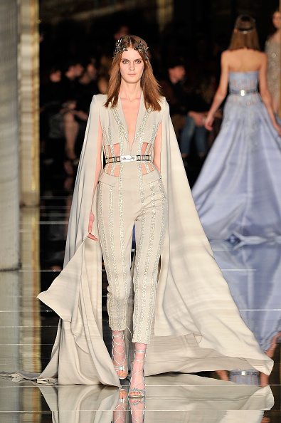 PARIS, FRANCE - JANUARY 27: A model walks the runway during the Zuhair Murad Haute Couture Spring Summer 2016 show as part of Paris Fashion Week on January 27, 2016 in Paris, France. (Photo by Kristy Sparow/Getty Images)