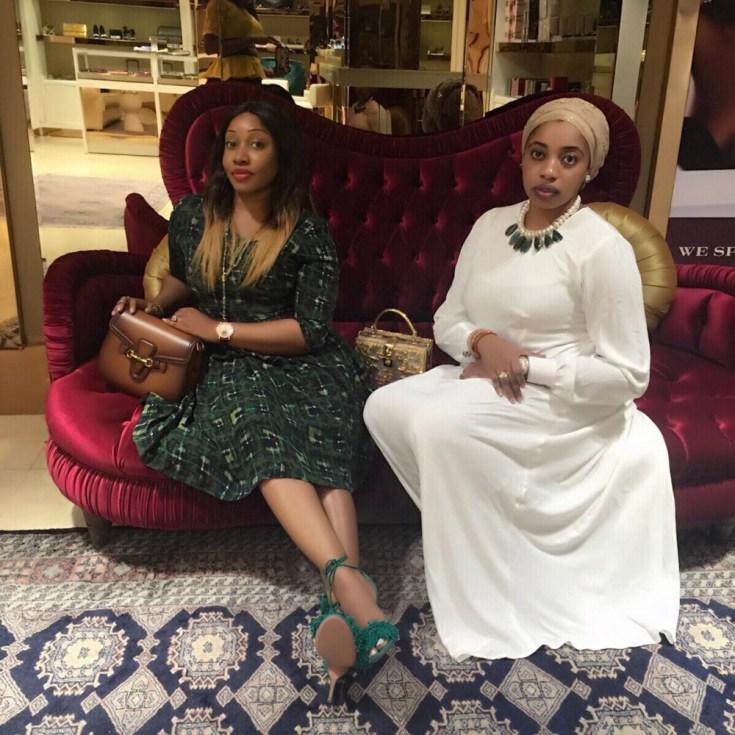 Olori Wuraola Otiti of Ile ife and Jennifer Obayuwana