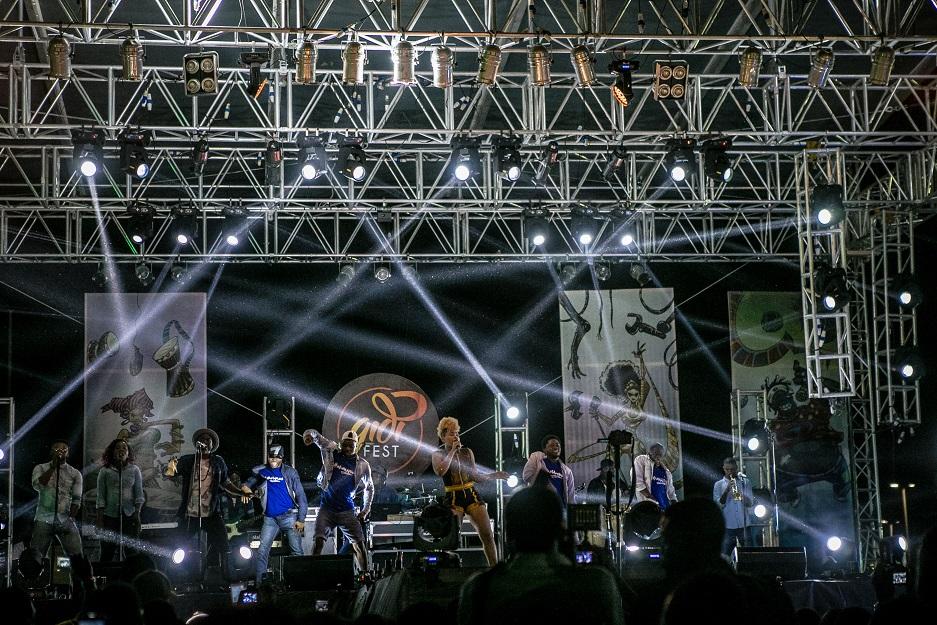 Mama Africa on #HeinekenGidiFest stage