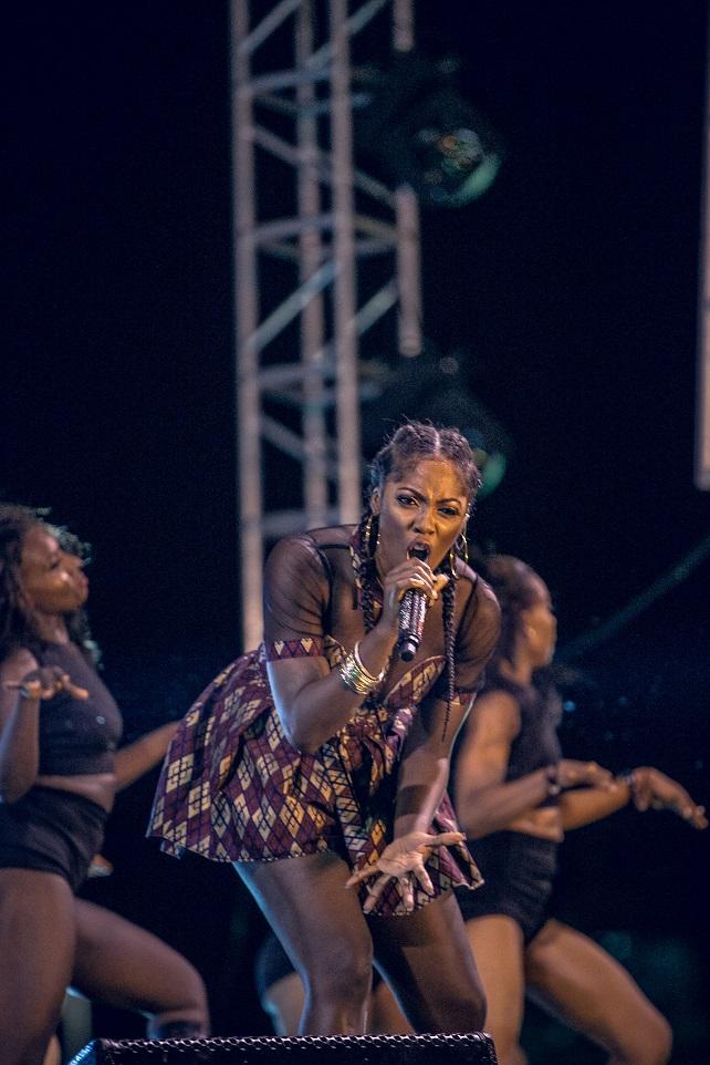 Tiwa Savage performing at #HeinekenGidiFest