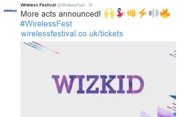 2-7 Wizkid Announced as a Headline Act for London's 2016 Wireless Festival