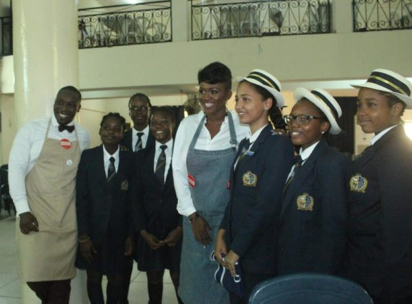 Waje Chef Eros and children from Dowen college