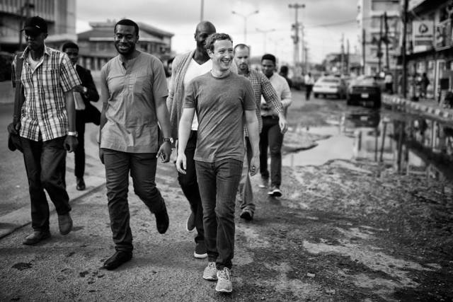 Walking the streets of Lagos.