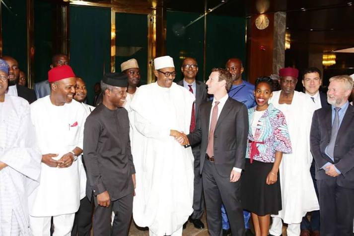 Mark Zuckerberg Meets President Buhari