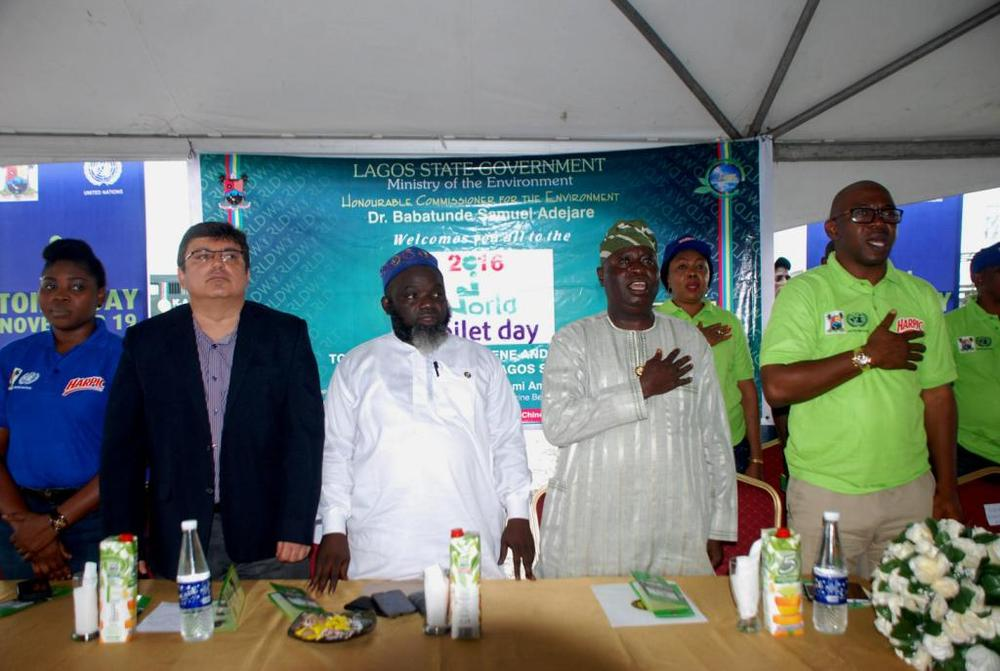 L-R: Head, Marketing And Activation, Rb West Africa, Mrs Omotola Bamigbaiye-Elatuyi; Managing Director, Rb West Africa, Mr Rahul Murgai; Permanent Secretary, Lagos State Ministry Of Environment, Engr. Adeyemi Saliu Abidemi, Representative Of Lagos State Governor, Mr Babatunde Hunpe, Special Adviser To The Governor On Environment And Sole Administrator, Apapa Iganmu Lcda, Mr Olumide Olayomi