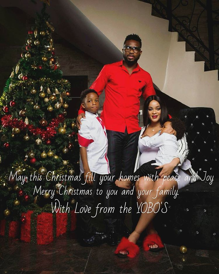 FOOTBALLER JOSEPH YOBO SHARES POWERFUL FAMILY PHOTOS ( MUST SEE)