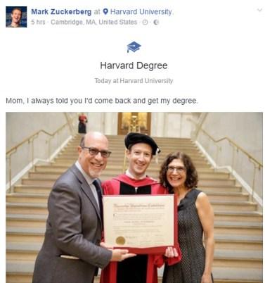 Mark Zuckerberg Delivers Powerful Speech at Harvard Commencement ...