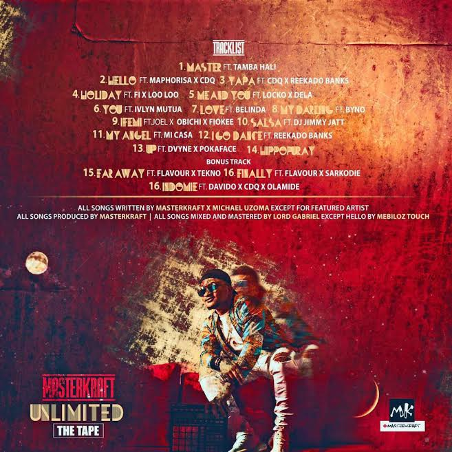 """Davido, Olamide, Tekno & More feature on Masterkraft's Forthcoming Mixtape """"Unlimited"""" 
