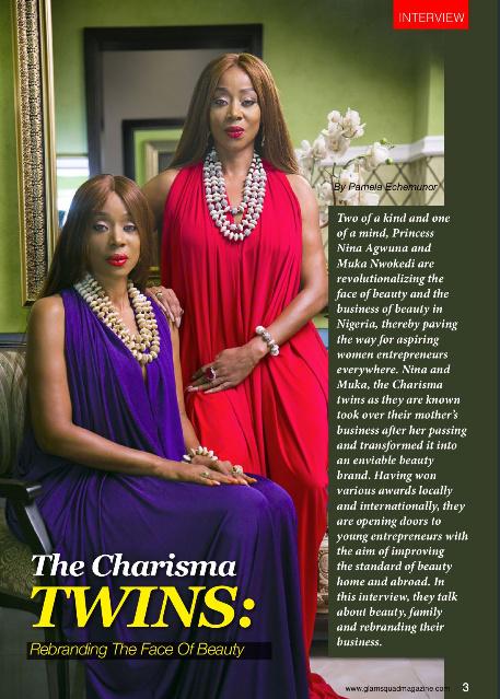 The Charisma Twins Muka Nwokedi & Princess Nina Agwuna Grace the latest issue of Glamsquad Magazine (1)