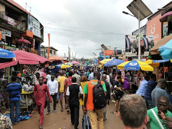Google CEO in Nigeria, shares photo of Computer Village
