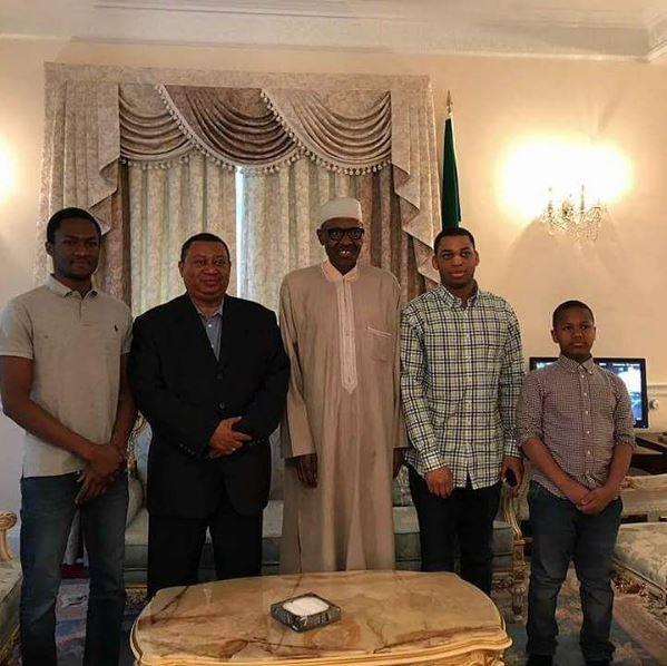 President Buhari receives OPEC Secretary-General Sanusi Barkindo in London - BellaNaija