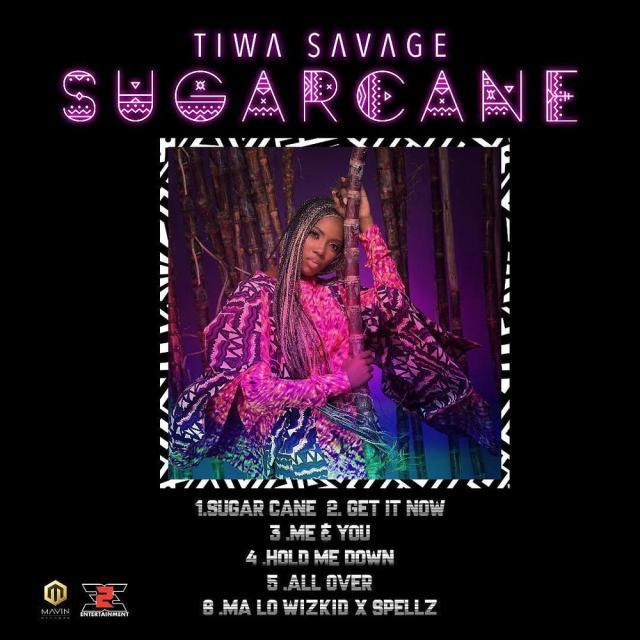 "BellaNaija - Tiwa Savage includes much anticipated collaboration with Wizkid & Spellz on EP ""Sugarcane"" 💃 | View Tracklist"