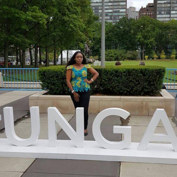 #BBNaija's Bisola at UN General Assembly, attends Bill & Melinda Gates' Goalkeepers Event - BellaNaija
