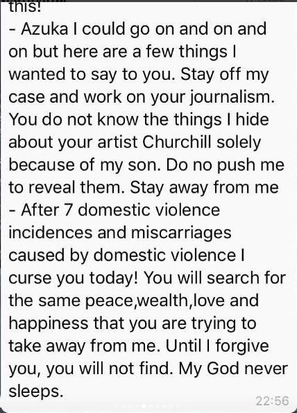 After 7 domestic violence incidences and miscarriages, I curse you today - Tonto Dike to Azuka Ogujiuba - BellaNaija