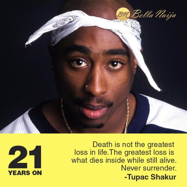 BellaNaija - #RIPTupac: 21 Years on! What is your favorite Tupac Shakur song?