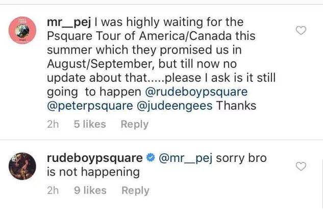 "BellaNaija - P-Square tour of America/Canada ""not happening"" - Rudeboy (Paul P-Sqaure)"