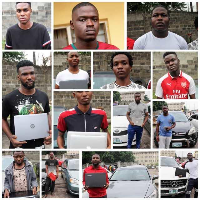 EFCC parades 14 Suspected Internet Fraudsters in Lagos