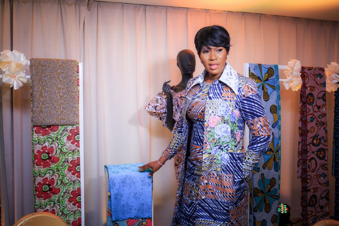 Stephanie Linus Slays Trish O. Couture Outfit for Vlisco's Luxury Range Launch