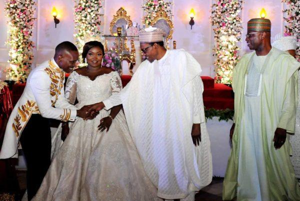 Buhari, Osinbajo, Tinubu attend Wedding of SGF Boss Mustapha's Daughter   BellaNaija