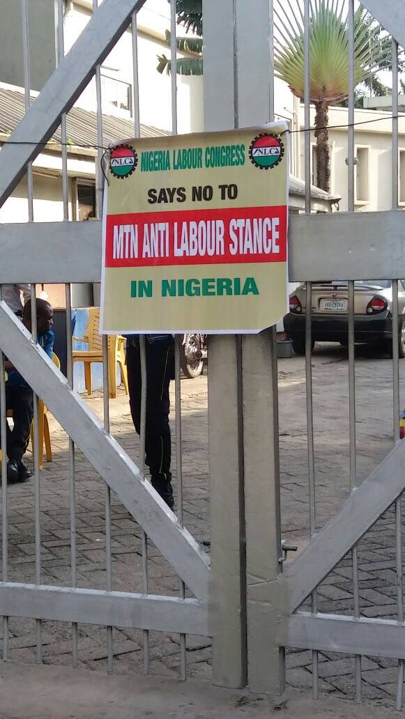 MTN offices Nationwide sealed by NLC | BellaNaija