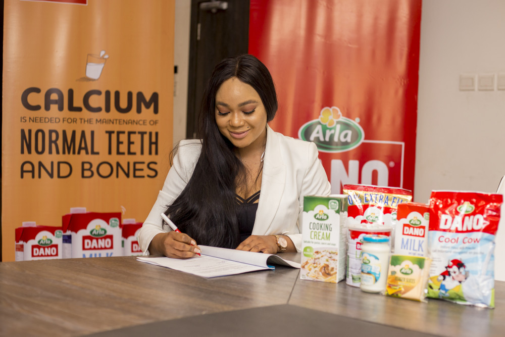 Rachael Okonkwo signing Dano Milk deal