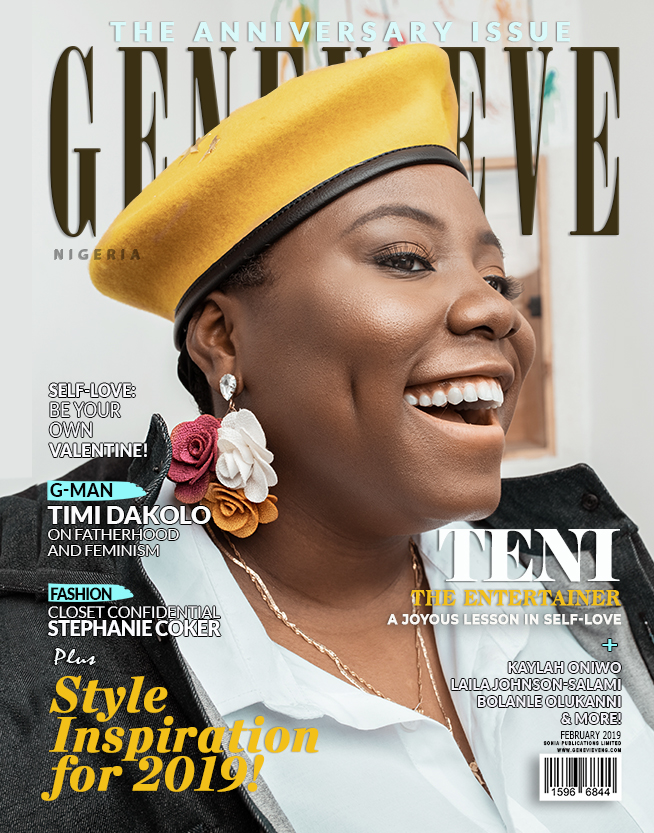Teni On Genevieve Magazine cover