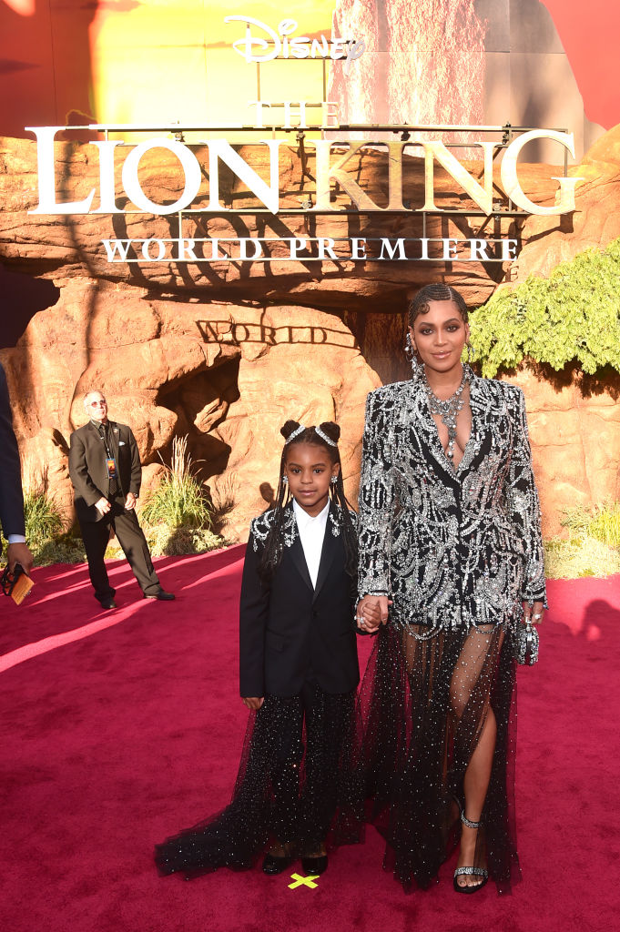 Beyonce and Blue Ivy step out in matching outfits for movie premiere