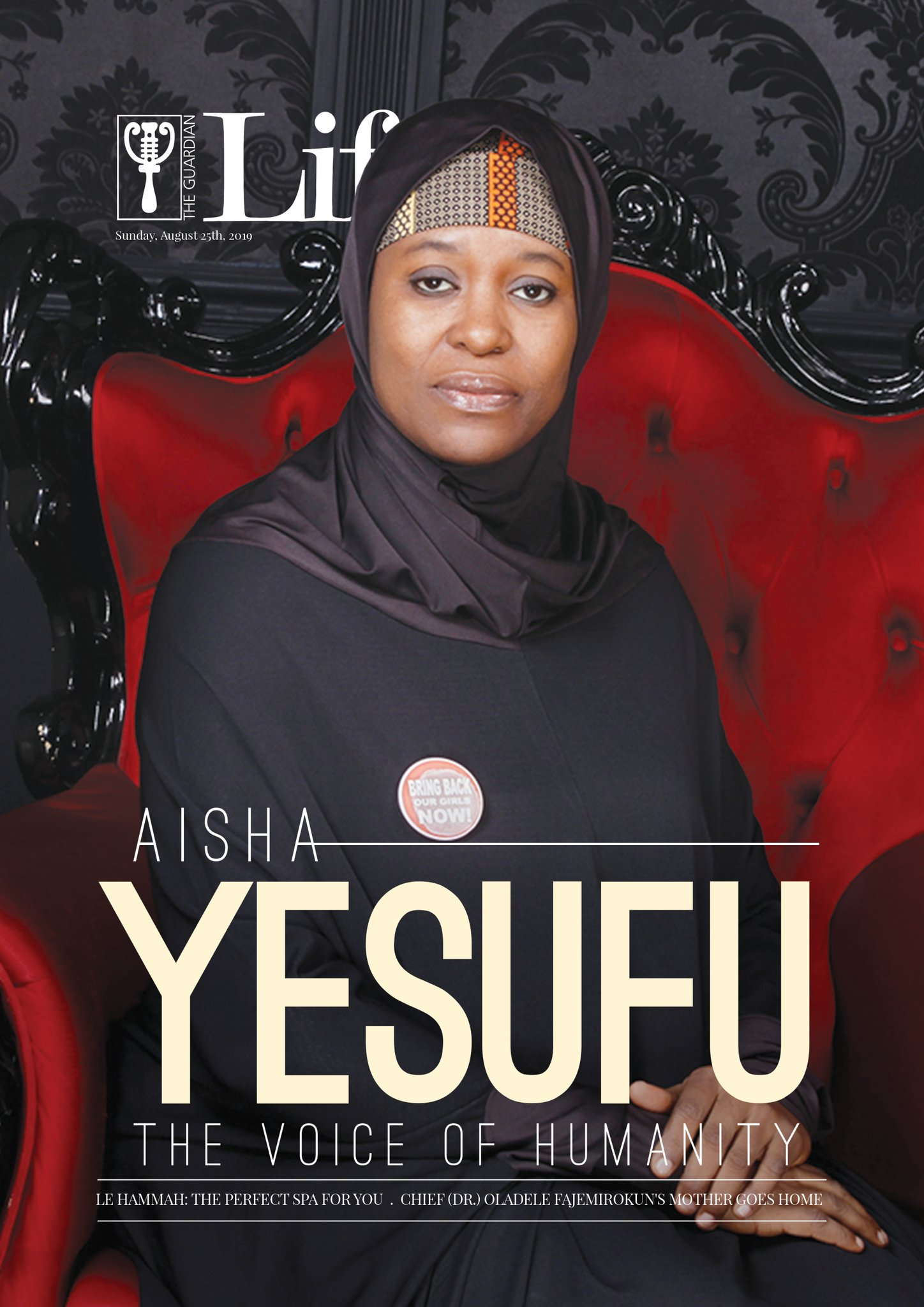 Aisha Yesufu Speaks on Being a Girl Child in Northern Nigeria as She Covers Guardian Life Magazine