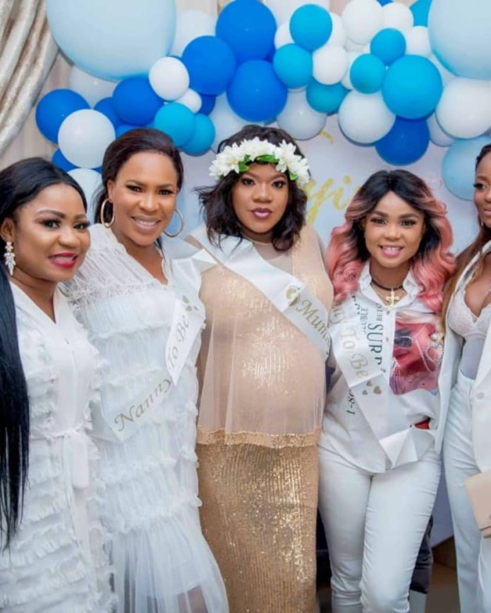 Toyin Abraham & Kolawole Ajeyemi's Son is Here! See Photos from the Baby Shower