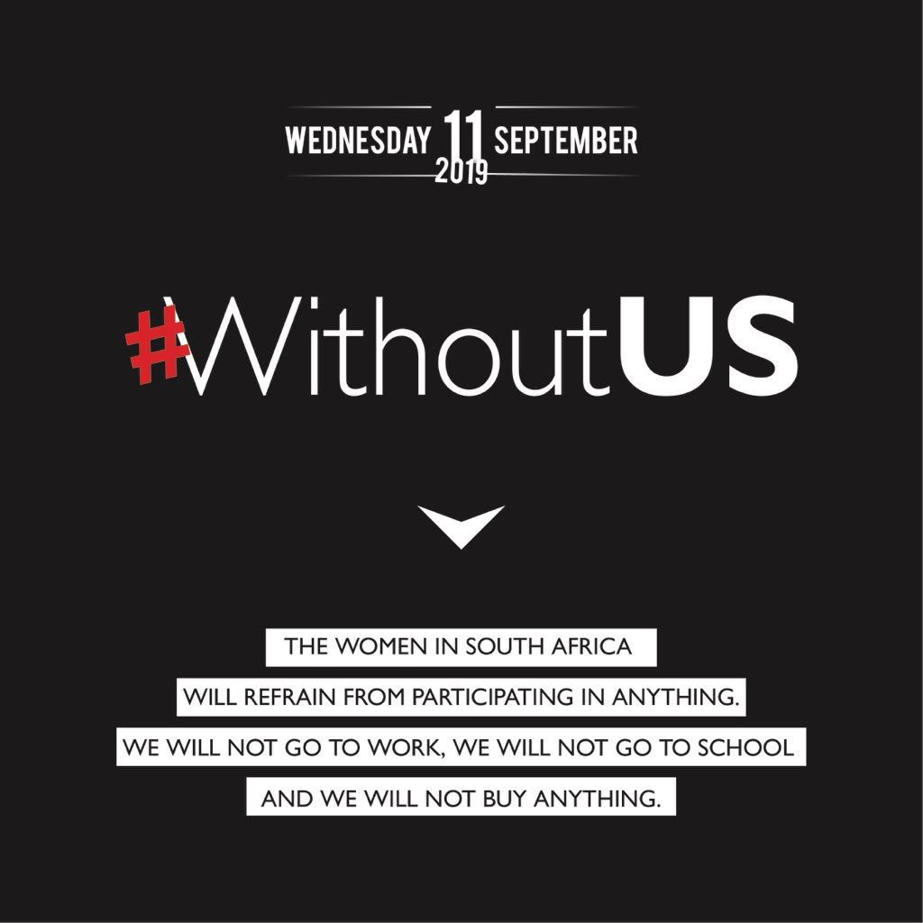 #WithoutUs: South African Women are making a Statement with a Strike – No Work, School & Buy!