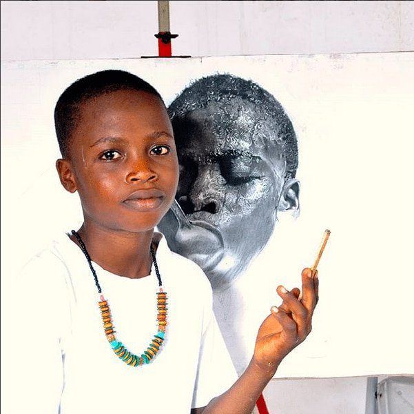 11-12 months Old Nigerian Artist Kareem Waris beats 2,723 Candidates to Win Top Taiwanese Award