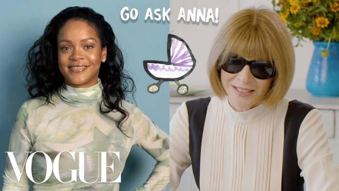"Rihanna Answers Questions on Baby Bump Rumours, Album Release Date on Vogue's ""Go Ask Anna"" 