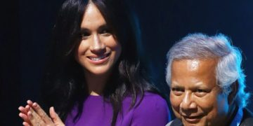 Duchess of Sussex Meghan Markle makes her mark at the One Young World Summit Opening Ceremony