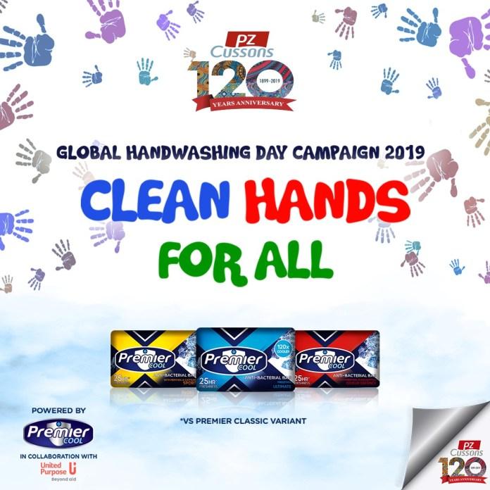 Juliet Ibrahim, Leo Da Silva joins Crew Premier Cool in celebrating International Handwashing Day 2019