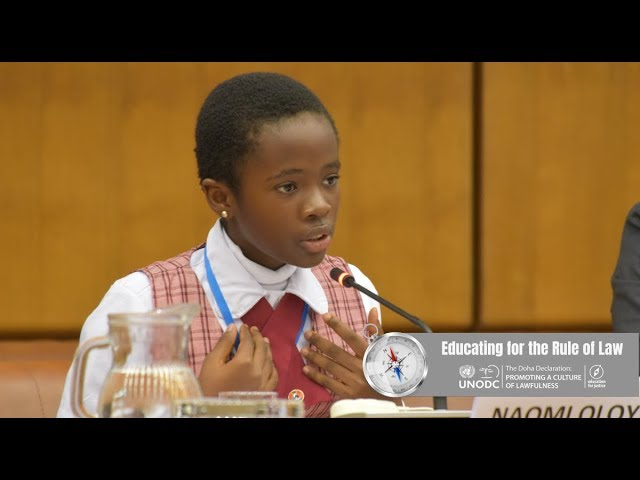 11-year-old Naomi Oloyede gets Standing Ovation after Speech at UNODC Anti-Corruption Conference in Vienna