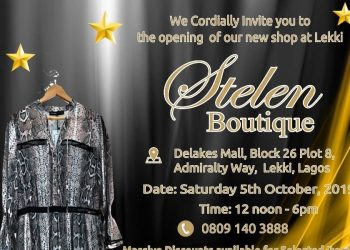 Hey #BellaStylista, Stelen Boutique is Inviting You to its Retailer Launch on Saturday, October fifth