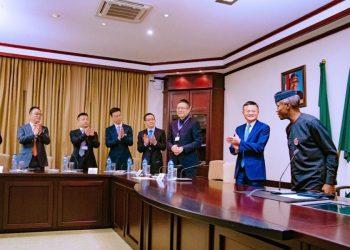 Alibaba Group's Jack Ma is in Nigeria & he Met with Yemi Osinbajo