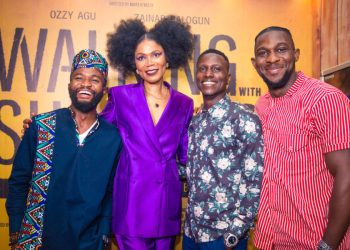 Kunle Afolayan, Zainab Balogun, Rita Dominic attend the Premiere of Funmi Iyanda's Debut Movie 'Walking with Shadows'