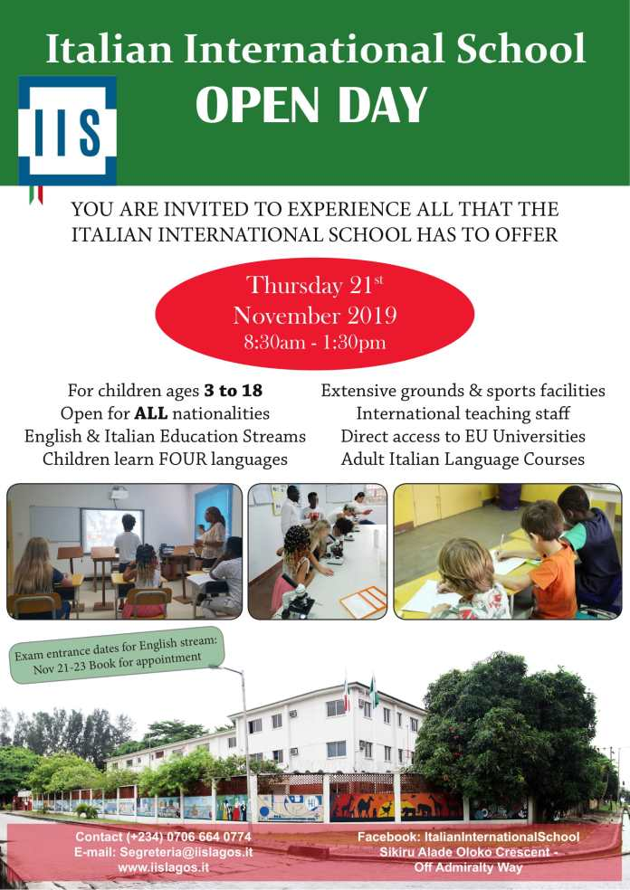 Italian International school is inviting you to its Open Day