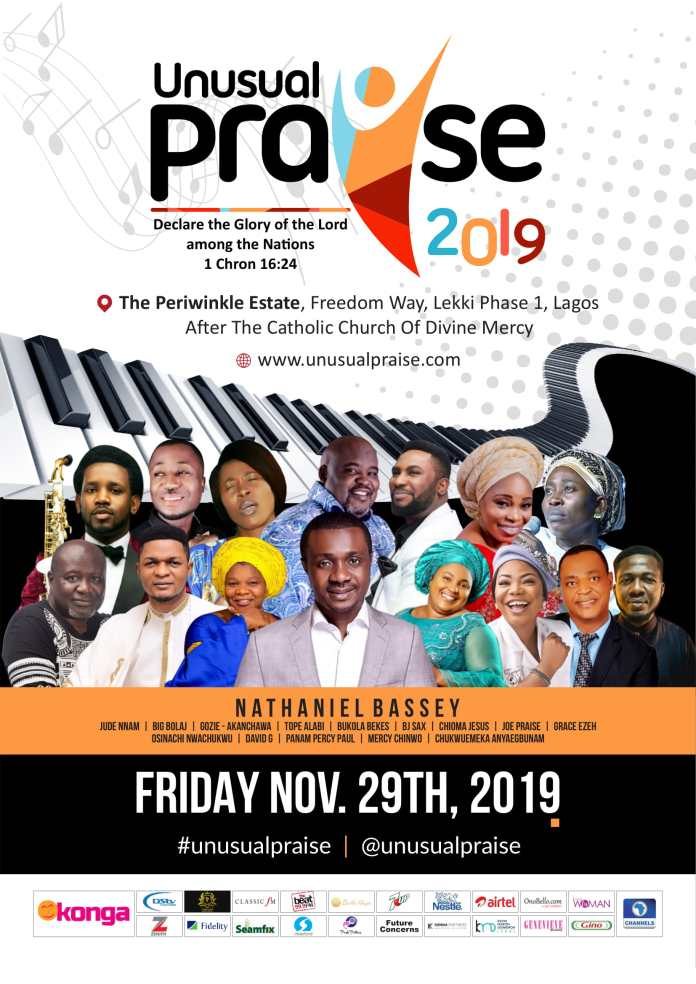 Come 'Declare the Glory of the Lord among the Nations' at the 9th Unusual Praise with Nathaniel Bassey, Jude Nnam, Joe Praise, & Chioma Jesus | November 29th