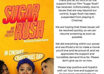 Censors Board has Banned Jade Osiberus Sugar Rush from Cinemas | Heres the Scoop