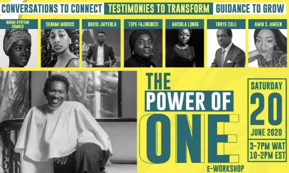 Join Tonye Cole, Amin S Ameen, Dami Oniru at the The Power of One Conference – Saturday, June 20