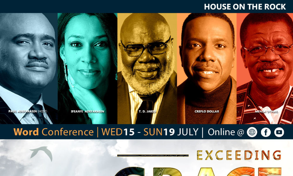 Join Paul Adefarasin, T.D Jakes, Travis Greene at the 7th Edition of House on the Rocks Annual Word Conference | July 15  19