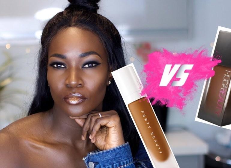 Fenty Beauty VS Huda Beauty | The Wear Test by Oluchi Onuigbo