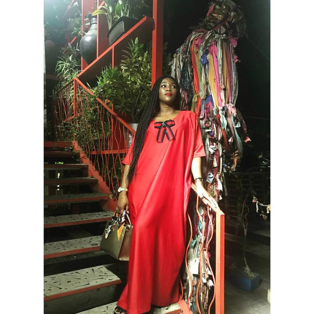 how to wear red genevieve nnaji