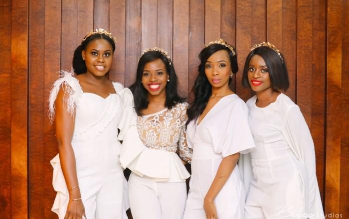 #BBNWonderland Brides show us 26 Ways to Wear a White Jumpsuit